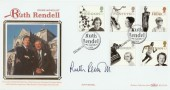1996 Women of Achievement Benham BLCS119b Official FDC. Signed by Ruth Rendell