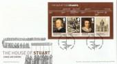 2010 The Age of the Stuarts Miniature Sheet, Royal Mail FDC, Kensington Place H/S