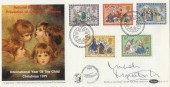 1979 Christmas, Benham BOCS 15 FDC,  First Day of Issue Bethlehem H/S, Signed by the Helicopter Pilot Malcolm MacIntosh