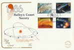1986 Halley's Comet Society, Cotswold Official FDC, Halley's Comet Society London SE10 H/S