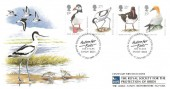 1989 Sea Birds Covercraft Official FDC, Royal Society for the Protection of Birds Sandy Beds. H/S