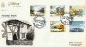 1981 National Trust, Abbey FDC, Giants Causeway Bushmills H/S