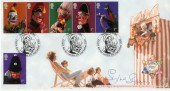 2001 Punch & Judy Bradbury Official Britannia FDC. Signed by Sylvia Syms
