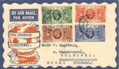 1935 KGV Silver Jubilee, Illustrated Air Letter to Finland. Superb FDC