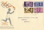 1948 Olympics Games FDC, Olympic Games Wembley Slogan & cds