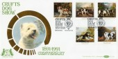 1991 Dogs, Crufts Dog Show, Benham BLCS60 Official FDC