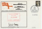 1990 Welcome to Rosyth Navy Days Cover Signed.