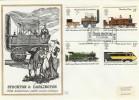 1975 Stockton & Darlington Railway, Benham Engraved FDC FDI Darlington Co.Durham H/S