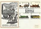 1975 Stockton & Darlington Railway, Benham Engraved FDC First Day of Issue Stockton on Tees