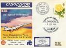 1976 Concorde Special Flight Cover, Paris Casablanca Paris Heathrow Airport H/S