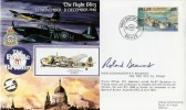 1990 Battle of Britian The Night, Blitz Belize FDC. Signed Roland Beamont
