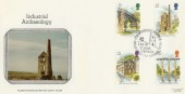 1989 Industrial Archaeology St.Agnes Cornwall Pilgrim FDC