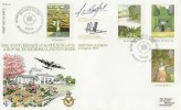 1983 British Gardens, Air Force Memorial Runnymede RFDC No.21 Official FDC. Signed