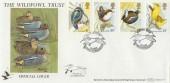 1980 British Birds, Benham BOCS 17 Slimbridge Gloucester Official FDC, Wildfowl Trust Slimbridge Gloucester H/S