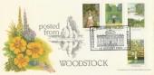 1983 British Gardens, Posted from Woodstock, Bradbury FDC