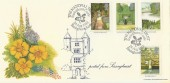 1983 British Gardens, Posted from Sissinghurst, Bradbury FDC