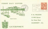 1964 2½d Guernsey Regional, Castle Cornet FDC, First Day of Issue Guernsey Slogan.