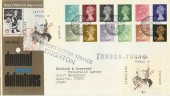 1971 First Decimal Low Value Definitives, with Export Letter Service Brighton Labels. Scarce
