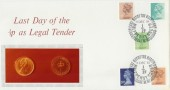 1984 Last Day of the ½p as Legal Tender Commemorative Cover