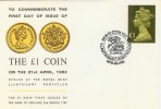 1983 Cover Commemorating the First Day of Issue of the New £1 Coin