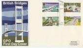 1968 Bridges GPO FDC Bridge Canterbury Kent H/S