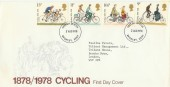 1978 Cycling, Halligan Advertising Services Special FDC. Very Rare