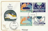 1994 Channel Tunnel, Cotswold FDC, Dover First Class cds with Paquebot, Scarce