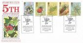 1985 British Insects, Stamp Bug Club 5th Anniversary Official FDC, Stamp Bug Club 5th Anniversary High Wycombe Bucks. H/S.