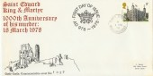 1978 Historic Buildings, Corfe Castle Special FDC,  Corfe Castle Wareham Dorset cds