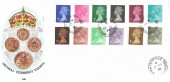 1971 First Decimal Low Value Definitives, Caergwrle Wrexham cds. Scarce with a Welsh cds