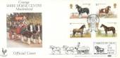 1978 Horses Benham BOCS 4b Royal Show Kenilworth FDC, Royal Show Kenilworth Warwickshire H/S