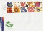 1997 Greetings, Tresco England's Island of Flowers FDC, Tresco Isles of Scilly cds