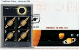 1999 Total Solar Eclipse, Phil Sheridan Official FDC, Solar Eclispe Meter Mark