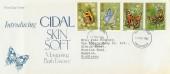1981 Butterflies, Cidal Skin Soft Special FDC, Twickenham FDI