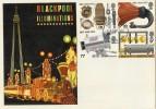 1972 BBC Blackpool Illuminations FDC, Fylde Coast Lancs FDI. Scarce
