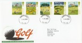 1994 Golf, Royal Mail FDC, Windsor Castle cds, Royal Connection to Golf
