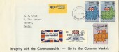 1973 European Communities, Privately produced FDC in Favour of the Commonwealth, Barnet FDI
