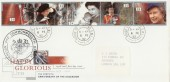 1992 Happy & Glorious, Royal Mail FDC, House of Commons cds + Cachet