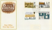 1970 British Rural Architecture, PO FDC, Cirencester Glos. cds