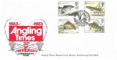 1983, British River Fish, Angling Times Special FDC, First Day of Issue Peterborough H/S
