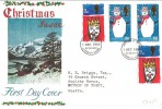 1966 Christmas Connoisseur FDC, Both Phosphor & Ordinary Stamps on one Cover, Bethlehem FDI