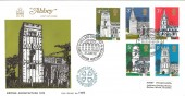 1972 Village Churches, Abbey FDC AD970 Earls Barton Northampton H/S