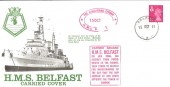 1971 HMS Belfast carried commemorative cover
