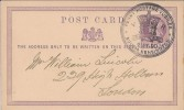 1890 ½d Postcard with Penny Postage Jubilee South Kensington H/S, Superb