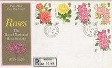 1976 Roses, Registered Post Office FDC, with Windsor Castle cds, Relevant, Scarce