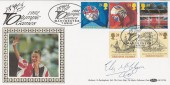 1992 Europa, 1992 Olympic Games, Benham BLCS74b Official FDC, Signed by Liz McColgan