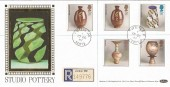 1987 Studio Pottery, Benham Star FDC, Potters Bar Herts cds