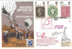 1970 Philympia, RAF Museum FDC, flown from to Battersea Heliport,  Philympia Day London H/S, Signed