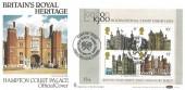 1978 Historic Buildings Miniature Sheet, Benham BOCS 2e FDC, Hampton Court England's Oldest Tennis Court  Kingston Upon Thames H/S