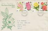 1976 Roses, Kristen Rosenberg Designed & Stamp Designer Signed Cover, Bromley FDI